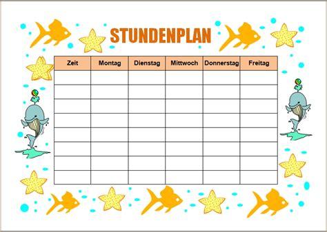 Word Vorlage Stundenplan Word Vorlagen F 252 R Die Schule Office Lernen Page 2 Of 2
