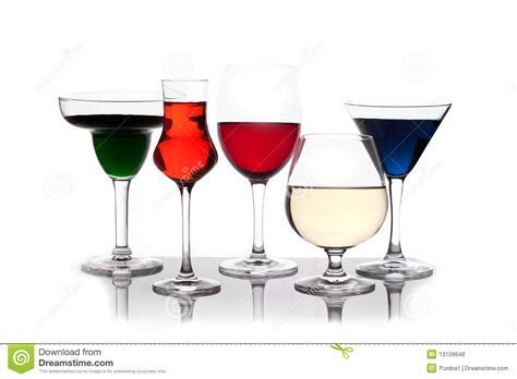 different colored drinks royalty free stock photos image