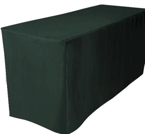 5 ft fitted polyester table cover trade show booth dj