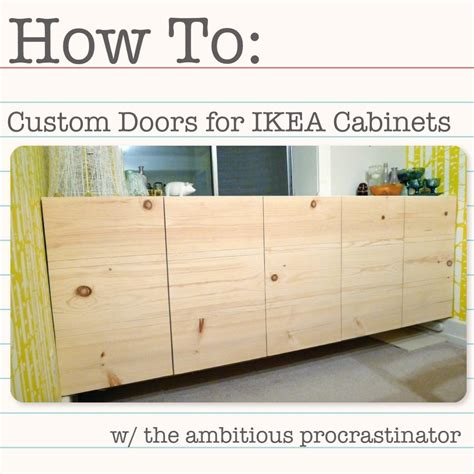 Make Your Own Kitchen Cabinet Doors by The Ambitious Procrastinator Diy Ikea Cabinet Doors
