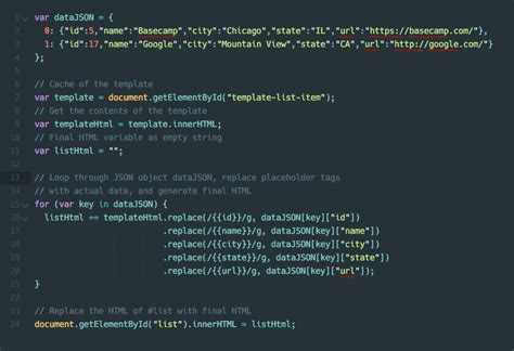 javascript template javascript templating without a library jonathan suh