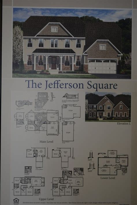 Ryan Homes Jefferson Square Floor Plan | the jefferson square single family home floor plan by ryan