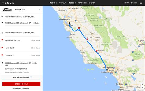 tesla map tesla launches quot ev trip planner quot tool with map of