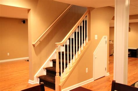 open basement stairs an open concept traditional basement other metro