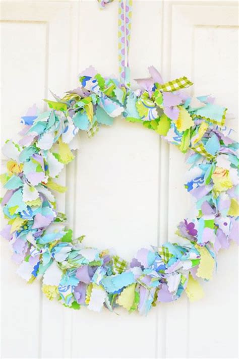 fabric crafts spring fabric wreath shabby chic fabric and wreaths on