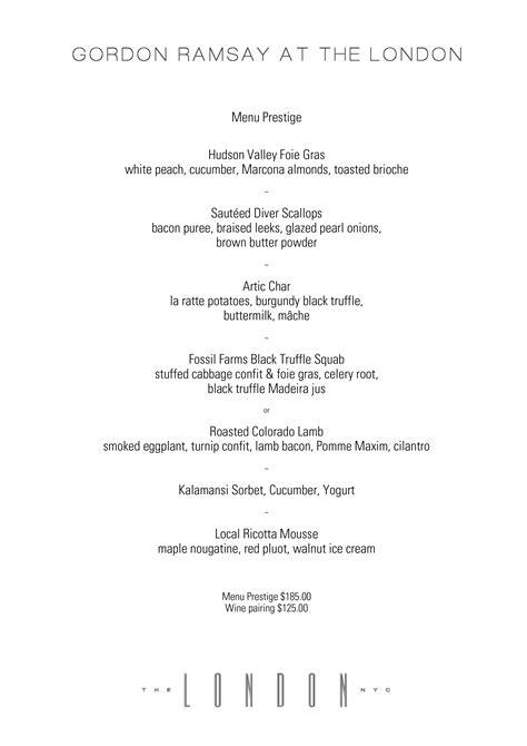 gordon ramsay dinner menu wine pairing menus best albari 241 o bodegas castro martin