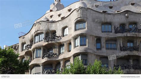 gaudi casa mila la pedrera casa mila gaudi building in barcelona stock