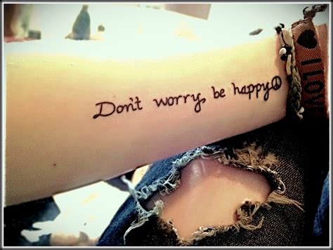 don t worry be happy tattoo my friend kes s don t worry be happy owls