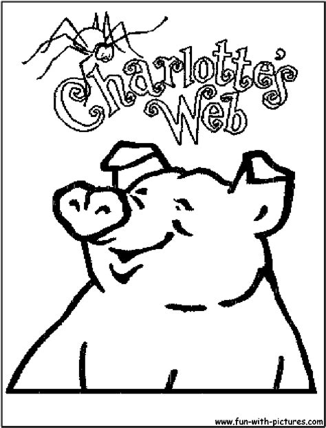 free coloring pages of charlottes web