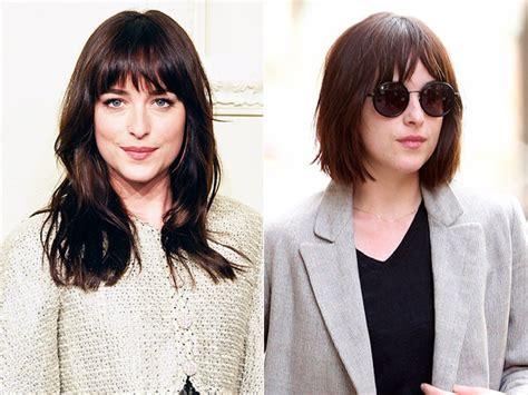 what kind of haircut does dakota johnson dakota johnson cuts her hair into a bob dakota johnson