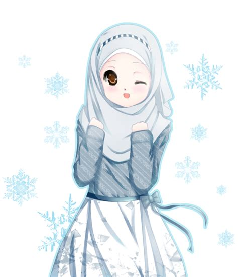 ziyah asbagz anime muslimah  lucu  imut