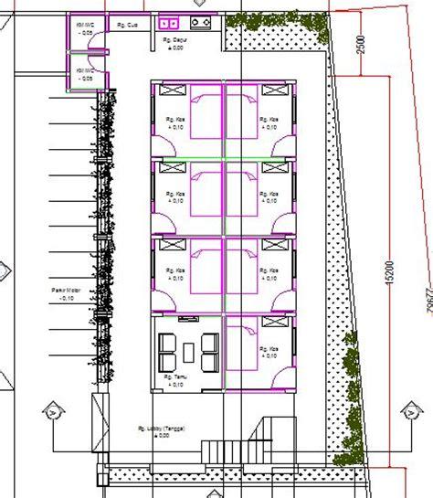 denah rumah kos sederhana dengan 20 kamar referensi rumah denah kosan minimalis 1 lantai 7 kamar referensi rumah