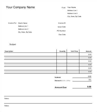 Free Sle Invoice Hardhost Info Free Personal Invoice Template