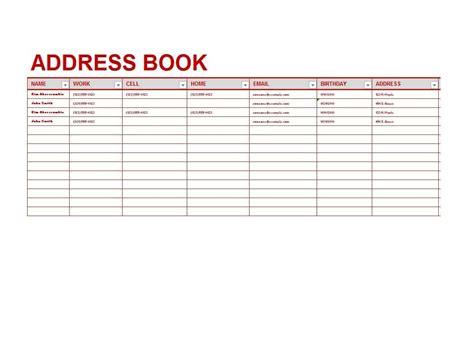 microsoft excel address book template 40 printable editable address book templates 101 free