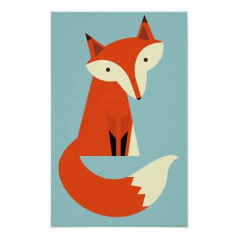 Poster Fox by Fox Posters Zazzle