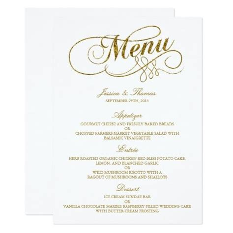 17 best ideas about wedding menu template on pinterest