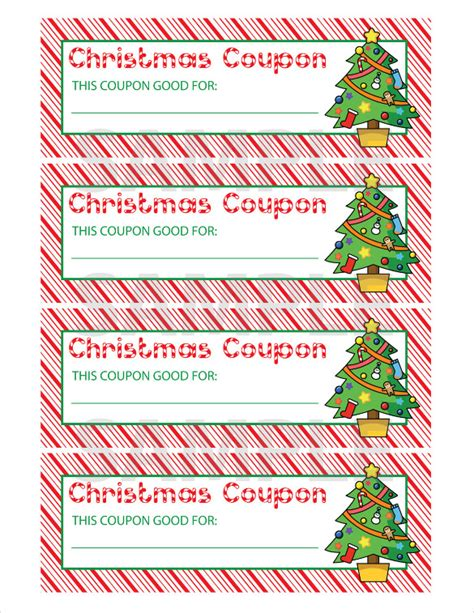 christmas printable voucher templates 23 christmas coupon templates free sle exle