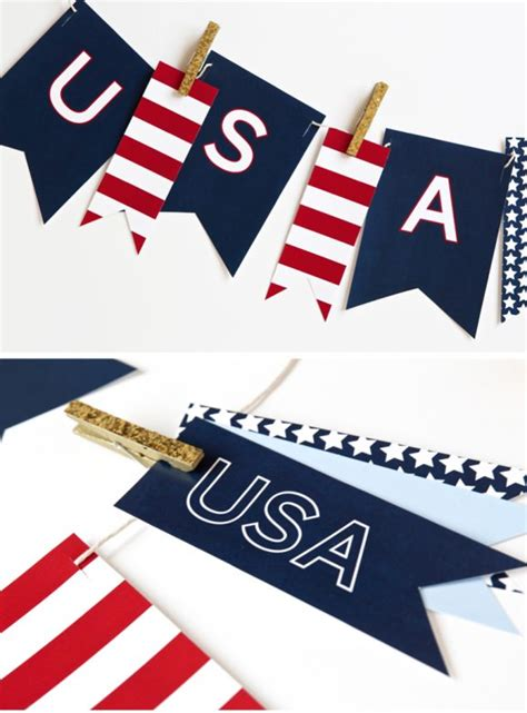free printable usa banner free printable july fourth banner paging supermom
