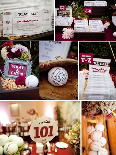 this day events baseball wedding ideas
