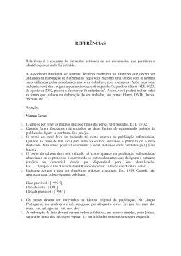Livro (Elementos essenciais: autor, título, edição, local