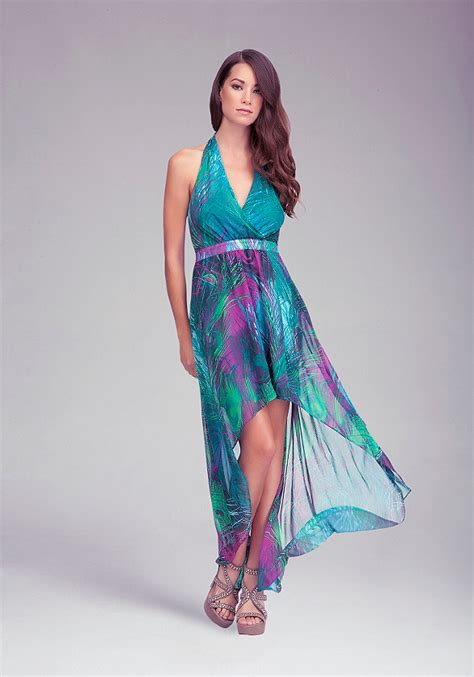 Sale Dress Bebe Halter 1 printed high low halter dress all dresses bebe