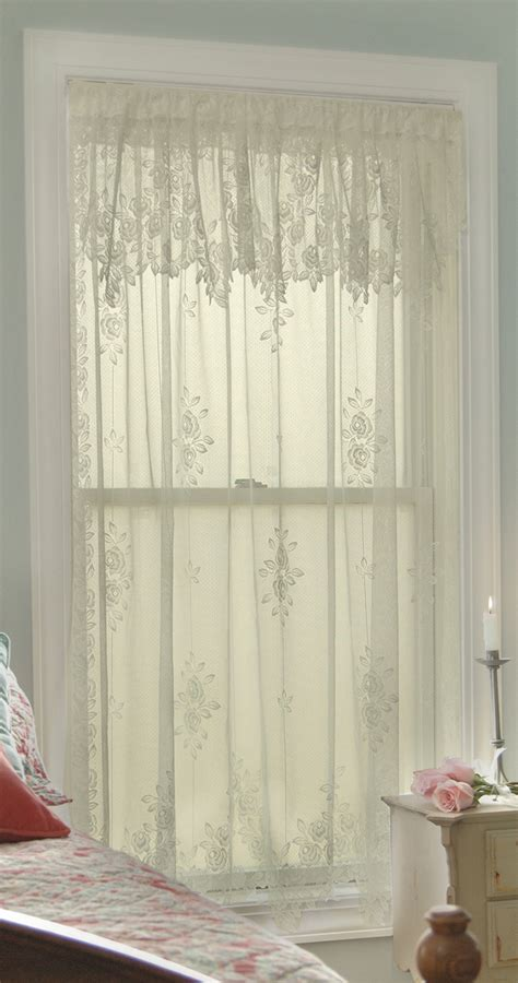 rose lace curtains tea rose curtain panels heritage lace heritage lace