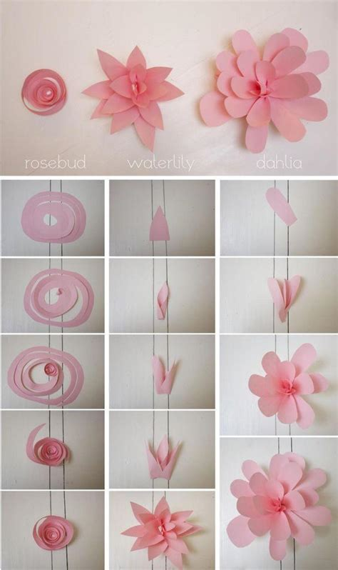 How To Make Paper Wall Flowers - diy wedding crafts paper flower wall backdrop diy