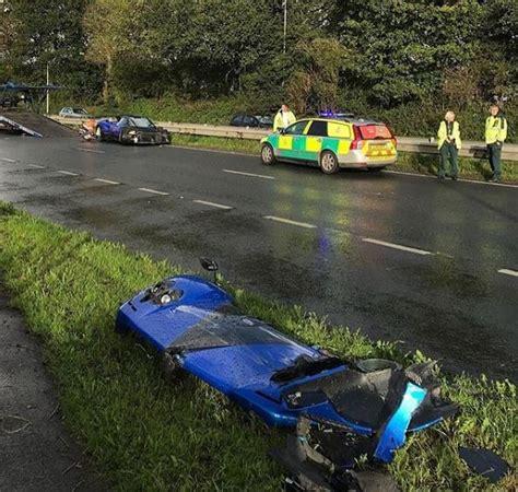 pagani zonda ps pagani zonda ps 760 loses its nose in uk crash