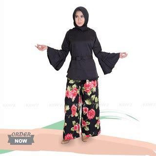 Nr Setelan Baju Wanita Muslim Casual Kulot setelan muslim baju muslim atasan wanita shopee indonesia