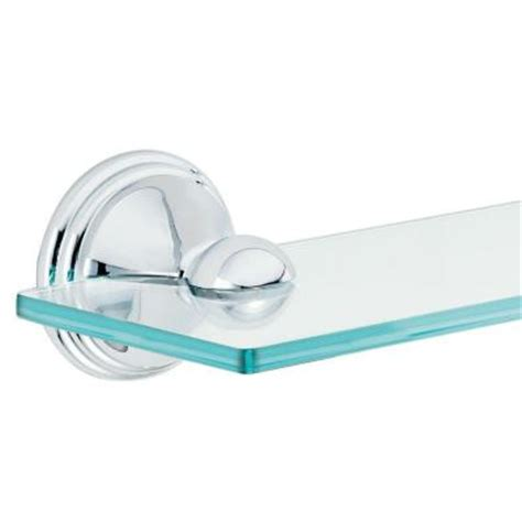 Moen Glass Shelf by Moen 19 In W Glass Bath Shelf In Chrome