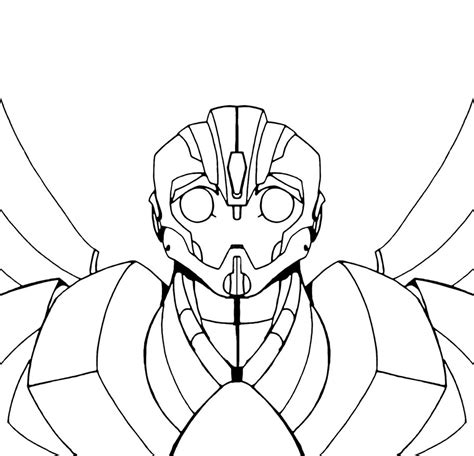 transformers bumblebee face coloring pages