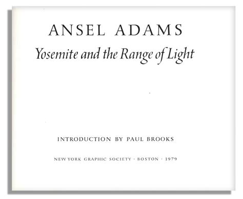 ansel adams yosemite and the range of light poster lot detail ansel adams signed copy of his majestic work