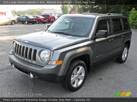 2011 Jeep Patriot Latitude X Mineral Gray Metallic 2011 Jeep Patriot Latitude X 4x4