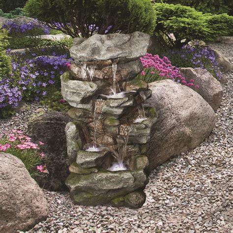 tier orowood outdoor fountain  lights  menards