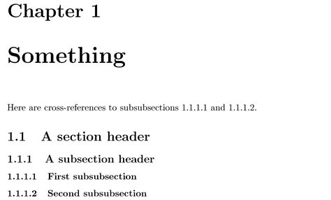 latex section number cross referencing how to ref a subsubsection tex