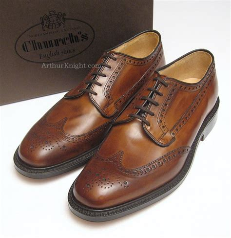 new church shoes mens brown country brogues leather sole