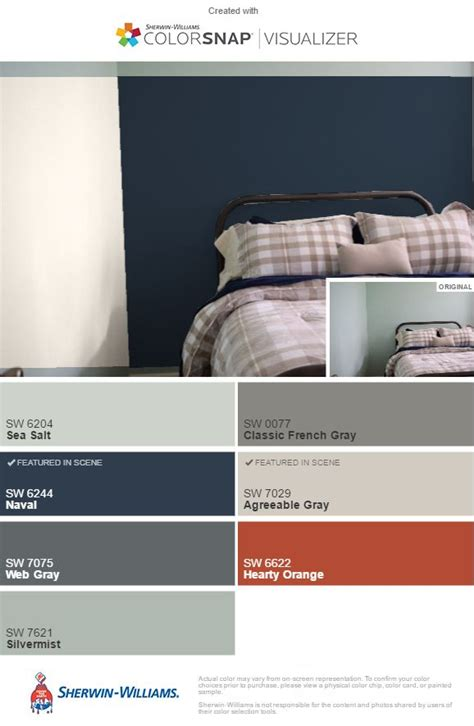 inspiration colors  guest bedroom naval sw accent wall