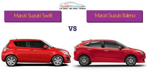maruti and suzuki maruti vs maruti baleno spec comparison
