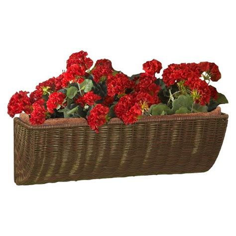 resin wicker wall basket planter target