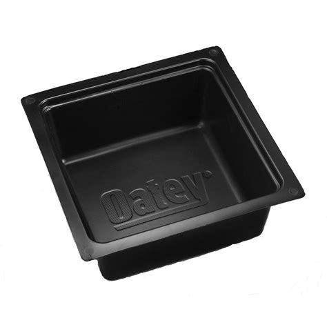 Can I Paint Bathtub Oatey Plastic Tub Box In Black 34080 The Home Depot
