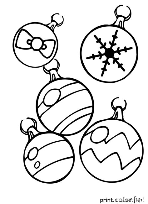 google printable christmas adult ornaments ornaments coloring page print color