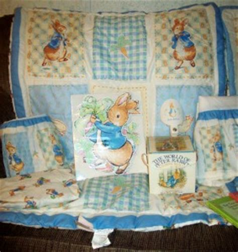 peter rabbit baby bedding rare bn ln 19 pc beatrix potter peter rabbit crib bedding