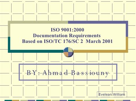 Fdu Mba Requirements by Iso 9001 2000