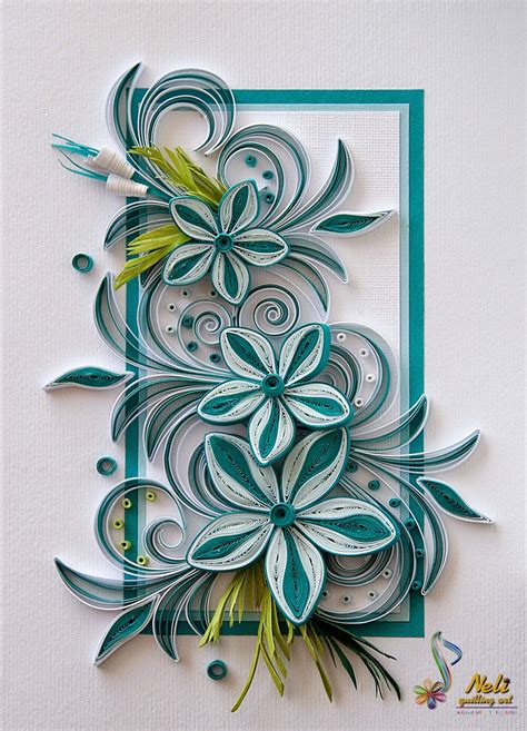 flower pattern for quilling neli quilling card 14 8 cm 10 5 cm paper craft