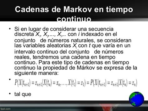 cadenas de markov en tiempo continuo ejemplos cadenas de markov