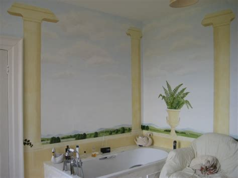 bathroom wall murals uk stone pillar bathroom mural jess arthur mural artist