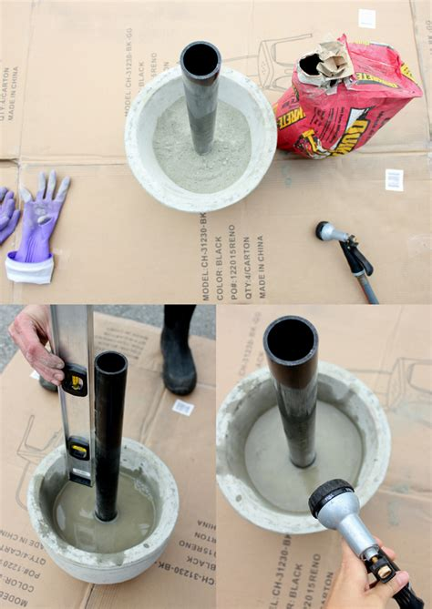 Diy Patio Umbrella Stand Diy Patio Umbrella Stand Icamblog