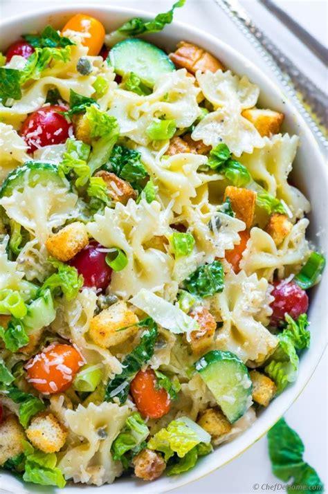 recipe for pasta salad caesar pasta salad recipe chefdehome com