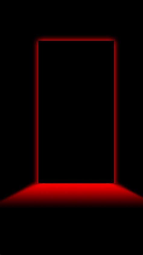 creepy minimalistic red light black background doors
