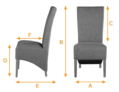 Dining Chair Size Dining Chair With Solid Oak Legs And Chinchilla Fabric
